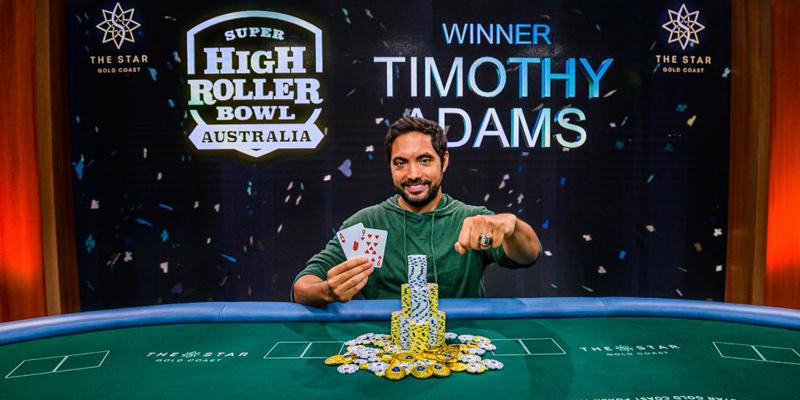 Timothy Adams Wins Inaugural Super High Roller Bowl Australia for AU$2,160,000